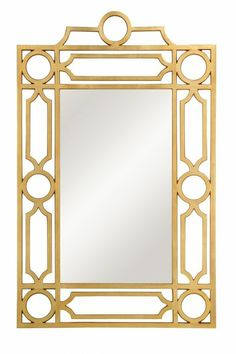 Arch Mirror in Gold Leaf and Beveled Glass