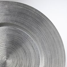 Plate Liner Glass/Silver Swirl