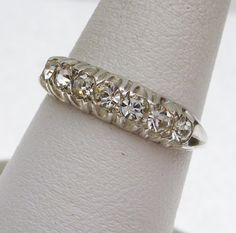 Rhinestone Band Sterling Silver 1960s