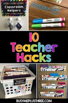 Are you an elementary teacher and want to make your life easier? These classroom ideas will help save time and energy as you move into the new school year! Classroom Helpers, Classroom Hacks, School Classroom, Future Classroom, Kindergarten Classroom Organization, Classroom Setup, Classroom Libraries, Classroom Tools, Teacher Hacks