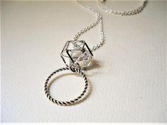 Diamante & Rope-Work/Silver Lanyard