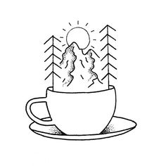 I'd love to tattoo this cup of coffee/tea!  #quebeccity Please contact me by DM if you're down