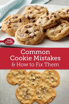 Everyone makes baking mistakes. We took ours to the Betty Crocker Test Kitchens to get the fixes and to find out how to avoid burnt cookies and other travesties in the future. Cookie Desserts, Just Desserts, Delicious Desserts, Dessert Recipes, Yummy Food, Healthy Food, Amazing Cookie Recipes, Baking Secrets, Baking Basics