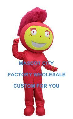 Vermelho Fogo Menina Mascot Costume Adult Size Personagem de Banda Desenhada Mascotte Mascota Festa Carnaval Cosply Fancy Dress Costumes Humano Terno SW1131(China (Mainland))