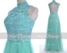 Mint Prom Dresses 2014 Prom Gown Straps Long Mint by MissDressesy, $169.00