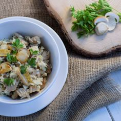 Houbové rizoto - Fitness Recepty Pasta Salad, Risotto, Potato Salad, Cabbage, Grains, Potatoes, Vegetables, Ethnic Recipes, Food