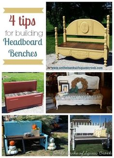 Headboard Benches: 4 Tips and Tricks by On the Banks of Squaw Creek