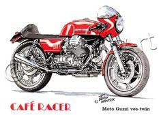 Racing Cafè: Motorcycle Art - Hancox Art Motorcycles #1