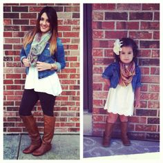 Matching outfits ~Like Mother Like Daughter.....I've got to do this with my Baby Girl!!!!!!