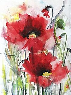 Red Poppies by Karin Johannesson from Image Conscious available www.karenscustomframes.com #artprints #canvasart #printondemand