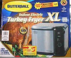 Masterbuilt  XL Butterball 20 lb Turkey Deep Fryer Indoor Electric Food Steamer  #MasterbuiltButterball