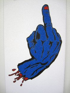 The F finger - Photo 006 Tape Art, Great Artists, Finger, Art Pieces, Artworks
