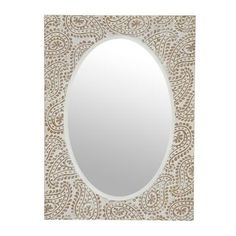 Natural Carved Paisley Mirror