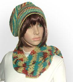 2ply beanie scarf set #crochet beanie be Renate Kirkpatrick