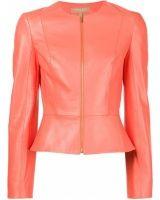 Chaquetas de cuero de mujer - Michael Kors Fitted Jacket