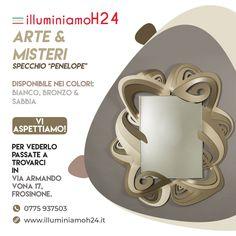 😍📣😍Arti & Mestieri... specchio Penelope ideale per arredare la vostra abitazione!!📣😍📣 www.illuminiamoh24.it