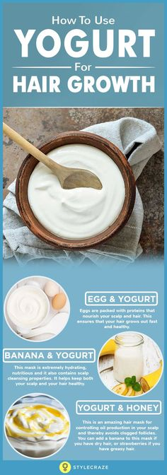 How To Use Yogurt For Hair Growth - - Keeping your hair healthy is a task for itself, focusing on growing your hair is even harder. Here are the ways to use yoghurt for hair growth! Read on how. Diy Hair Care, Hair Care Tips, Natural Hair Care, Natural Hair Styles, Natural Shampoo, Yogurt For Hair, Yogurt Hair Mask, Banana Hair Mask, Curly Girls