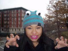 Custom Crazy Cute Monster Hat Beanie Halloween by AlexCreates, $15.00