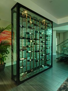 Wine wall by Blue Grouse cellars