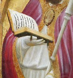 Masaccio - Trittico di San Giovenale: Santi (pannello destro), dettaglio - 1422 - Museo di Cascia di Reggello, Firenze