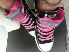 Converse gone girly,  tulle & sparkly