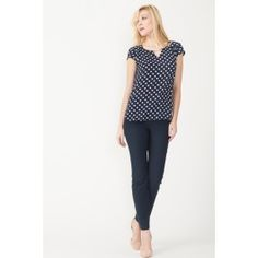Woven Straight Leg Career Pant With Front Zip Pocket