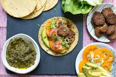 falafel tacos with avocado + greenharissa - what's cooking good looking - a healthy, seasonal, tasty food and recipe journal
