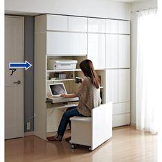 毎日の使いやすさを考えた収納システム 収納棚付きパソコンデスク(机)幅80cm 写真1