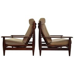 Jean Gillon Style Mahogany Lounge Chairs