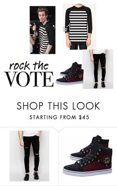 """Luke Hemmings: - 5SOS STYLE GUIDE"" by cristina-962 on Polyvore featuring Cheap Monday, men's fashion y menswear"