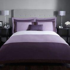 Aubergine violet élégant sequin de couette couette set luxe belle literie