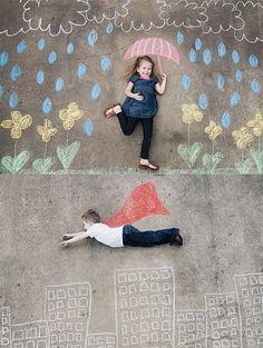 Cute Sidewalk Art For Kids
