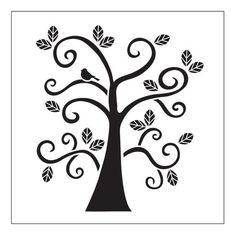 FolkArt Curly Tree Small Painting Stencils-30610 - The Home Depot: