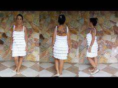 (99) Linda Arteira - Crochê&Customização - YouTube Knitting Videos, Crochet Videos, Summer Patterns, Crochet Cardigan, Crochet Bikini, Crochet Patterns, Summer Dresses, Skirts, Youtube