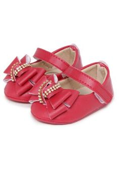 Sapatilha Peknin Infantil Strass Vermelha