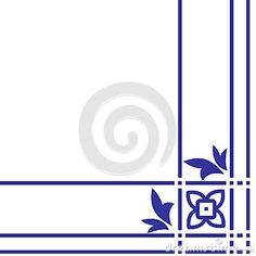 Teste padrão floral árabe Elemento para o canto do projeto