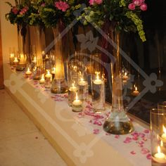 WEDDING CANDLES FLOWERS