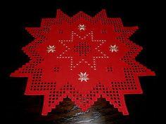 Hardanger Christmas star handmade from Germany