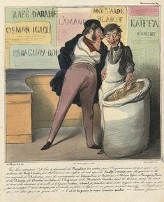 Une #lithographie de l'#artiste et caricaturiste Honoré #Daumier sans concession sur les pratiques de #vente abusives de #publicistes et consorts prêts à tous les mensonges pour vendre leurs #produits #numelyo #publicité #CulturePub