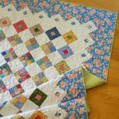 Believe it or not, I have finished a second quilt this month! Spring Garden is now bound and ready to be enjoyed. Boy Quilts, Mini Quilts, Nine Patch Quilt, Charm Quilt, Quilt Border, Colorful Quilts, Quilt Binding, Antique Quilts, Quilt Block Patterns