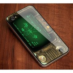 "Fallout Pipboy Rainmeter Print On Hard Plastic For iPhone 6 4.7"", Black Case  This case is available for: iPhone 4/4S iPhone 5/5S iPhone 6 4.7"" screen Samsung Galaxy S4 Samsung Galaxy S5 iPod 4 iPod 5"