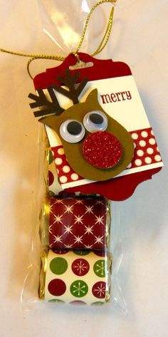Love this little sleeve of candybars - add a note or tag saying how sweet it is that your host has agreed to host a party with you! Cute.