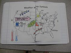 Science Notebooking: Weather Freebies - Flipchart, Homework, NB Page Weather and Climate Fourth Grade Science, Middle School Science, Elementary Science, Science Classroom, Science Education, Teaching Science, Science Activities, Science Ideas, Weather Activities