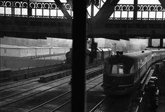 Berlin: Anhalter Bahnhof; Deutsche Reichsbahn; Ausblick vom Stellwerk; Ausfahrt des FDt,im Mai 1938