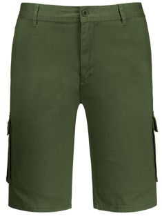 Zip Fly Pockets Bermuda Cargo Shorts  Shorts  Fashion  Womens  Men   ArmyGreen e2c682a4c