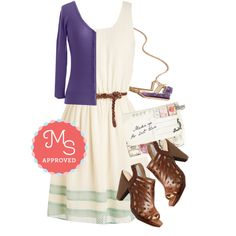 In this outfit: The Good Stroll Days Dress, Charter School Cardigan in Orchid, A Druzy of a Time Necklace, Through the Post Clutch, Street Style Cred Heel #pastels #nozzle #dresses #spring #heels #romantic #ModCloth #ModStylist #ootd #fashion