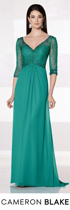 Cameron Blake Fall 2015 - Style No. 215628 cameronblake.com #eveninggowns #motherofthebridedresses