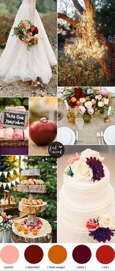 Burnt Orange Peach and Plum Wedding { Autumn Weddings }. #wedding