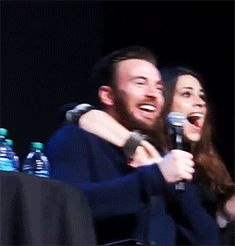 Hayley Atwell and Chris Evans