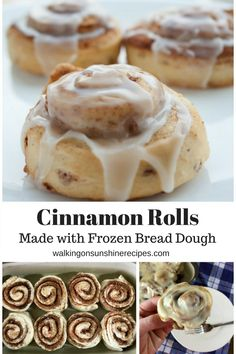 How to Make Easy Cinnamon Rolls using Frozen Bread Dough How to Make Easy Cinnamon Rolls using Frozen Bread Dough Sugar Geek Show Liz Marek sugargeekshow Sweet Dessert Recipes nbsp hellip Best Cinnamon Rolls, Rhodes Cinnamon Rolls, Rhodes Rolls, Cinnamon Rolls With Biscuits, Easy Homemade Cinnamon Rolls, Rhodes Dinner Rolls, Semi Homemade, Homemade Breads, Bread Dough Recipe
